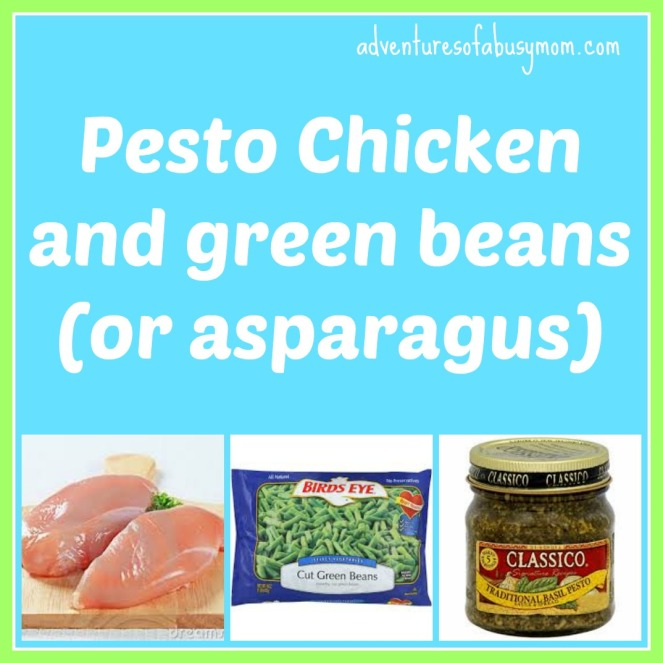 Pesto Chicken and green beans