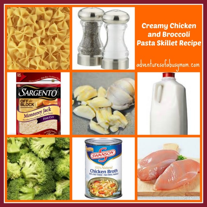 creamy chicken and broccoli pasta skillet recipe