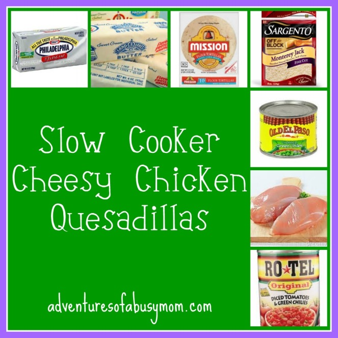 slow coooker cheesy chicken quesadillas