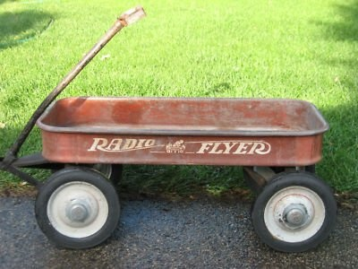 rusty red wagon