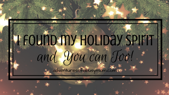 I found my holiday spirit and you can too