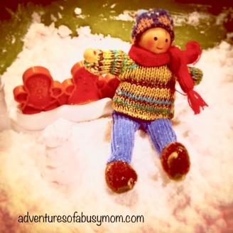 Rex made a snowman