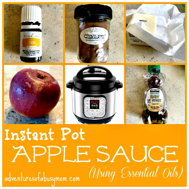 Instant Pot Apple Sauce using essential oils