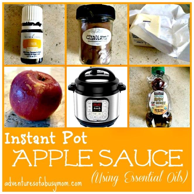 Instant Pot Apple Sauce using essential oils